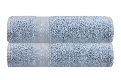 - Glamburg Premium Ultra Soft Oversized 2 Pack Bath Sheet 35x70-100% Pure Ringspun Cotton - Ideal for Everyday use, Hotel & Spa, Quick Drying, Towels Set, Multipurpose - Highly Absorbent - Sky Blue