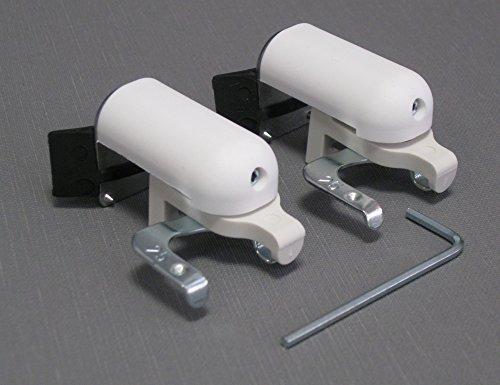 ps QUICKFIX-Klemmträger für Jalousien inkl. Dichtungspad (2 Stück) - Montage ohne Hohlräume in den Gummidichtungen Ihres PVC-/Kunststofffensters