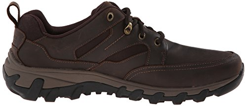 Rockport Mens Molle Fredde Più Parafango Impermeabile Oxford In Pelle Marrone Scuro