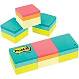 Post-it Notes Cube, 1 7/8 x 1 7/8 Inch, Green and Canary Wave, 3 Count (2051-3PK)