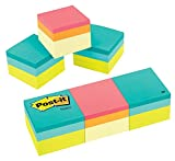 Post-it Notes Cube, 1 7/8 in x 1 7/8 in, Green Wave and Canary Wave, 400 Sheets/Cube, 3 Cubes/Pack (2051-3PK)