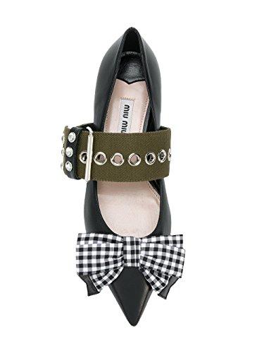Miu Miu Women's 5F684BXOTF0Q24 Black Leather Flats cheap sale top quality cheap online lFN2x