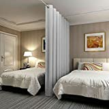RHF Privacy Room Divider Curtain 8ft tall x 10ft Wide: No one can see through, Total Privacy(8x10)Grey