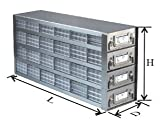 CRYSTAL - BioExcell 20 Plate Upright Freezer Drawer Rackw/ 5 drawers for 96-Deep-Well Plates, EA1