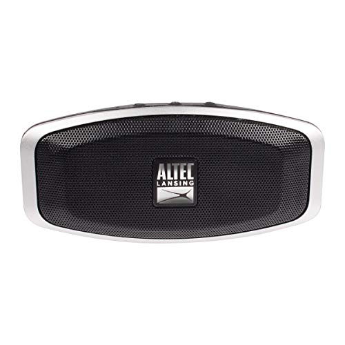 Altec Lansing IMW279-BLK Porta True Wireless Bluetooth Speaker, 6 Hour Battery Life, IPx7 Waterproof, Compatible with Apple, Android, Tablets and Laptops, Ipx7 Waterproof, Black