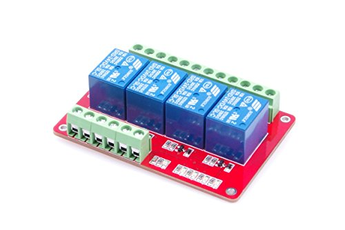 24v Relay (LM YN DC 24V 4-Channel Relay Control Module 4CH Relay Module Low Level Trigger With Red and Blue Indicators for Arduino)