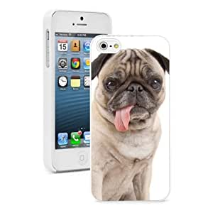 For Apple iPhone 4 4S Hard Case Cover Pug Dog with Tongue Out -02