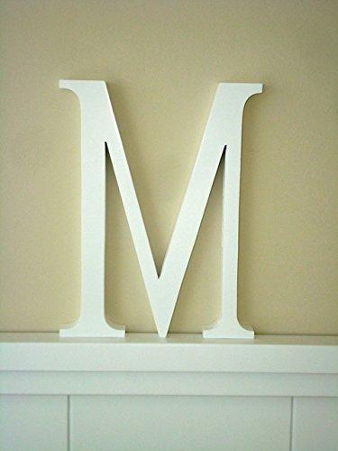Letra M Letras decoracin Grandes Letras lacadas blancas Altura