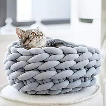 QNMM La Cama Creativa Moderna Tejida A Mano para Mascotas Se Puede Lavar A Máquina con
