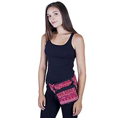 well-wreapped Women's Cotton Travel Gypsy Utility Festival Bag Fanny Pack
