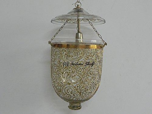 IndianShelf Handmade Decorative Golden Work Chandelier Celling Lamp Indian Online