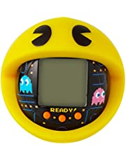 BANDAI 42862 Tamagotchi Nano-Pac-Man Black Version with Case-Feed, Care, Nurture, with Chain for on The go Play-Electronic Pets