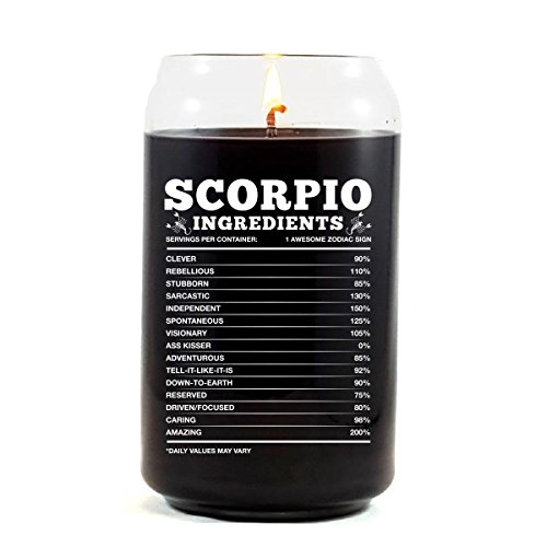 Scorpio Ingredients Scorpio Zodiac Star Sign Gift - Scented Candle