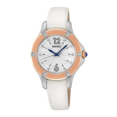 P2 White Leather Quartz Watch ()