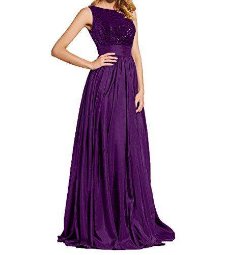 Pailletten Abendkleider Damen Violett Festlichkleider Partykleider Ballkleider Lang Formalkleider Charmant Abschlussballkleider mit Oqwf1zxHE