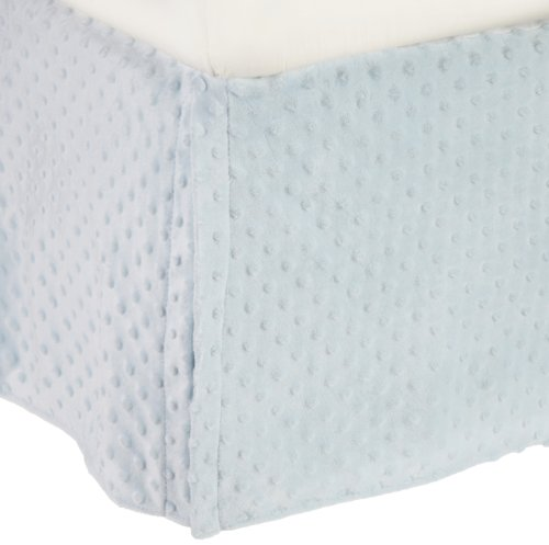 American Baby Company Heavenly Soft Minky Dot Tailored Crib Skirt, Blue, for Boys and Girls
