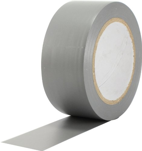 ProTapes Pro 50 Premium Vinyl Safety Marking and Dance Floor Splicing Tape, 6 mils Thick, 36 yds Length x 2 Width, Grey (Pack of 1)