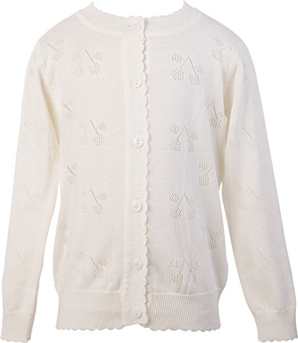 girls cream cardigan - 8