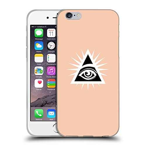 "GoGoMobile Coque de Protection TPU Silicone Case pour // Q09120604 Œil Providence 22 Abricot // Apple iPhone 6 4.7"""