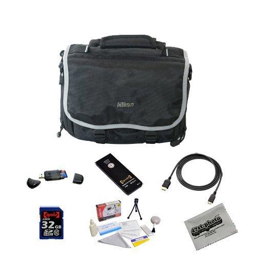 Shooter Package For The Nikon DF, D4, D3X, D800, D800E, D610, D600, D300S, D7100, D7000, D5300, D5200, D5100, D3200 and D3100 Featuring Nikon Deluxe Gadget Bag, Opteka 32GB Class 10 Memory Card And More by Nikon