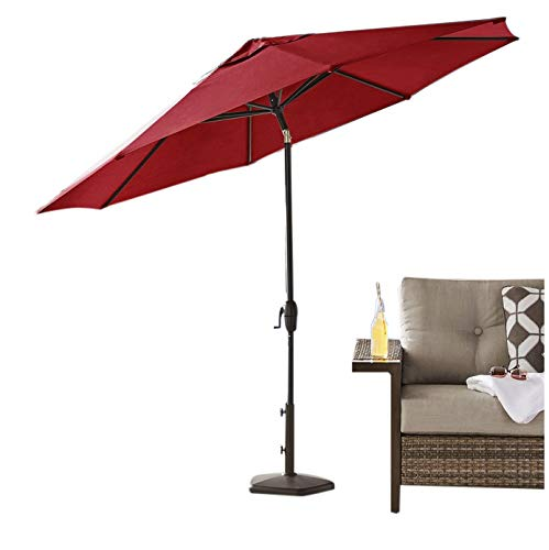 (SunVilla Sunbrella Outdoor Commercial Heavy-Gauge Adjustable Tilt 10' Market Umbrella (Jockey Red))