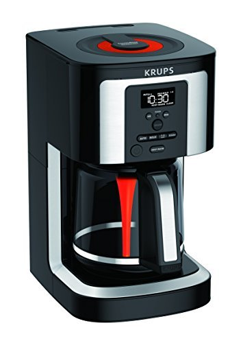 KRUPS, EC322, 14-Cup Programmable Coffee Maker, Professional Permanent Gold-Tone, Thermobrew Technology, ()