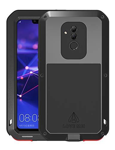 GFU Full Body Huawei Mate20 Lite Case TPU Bumper Heavy Duty Protection Armor Aluminum Shockproof DirtProof Hybrid Tempered Glass Outdoor Metal Shell ...
