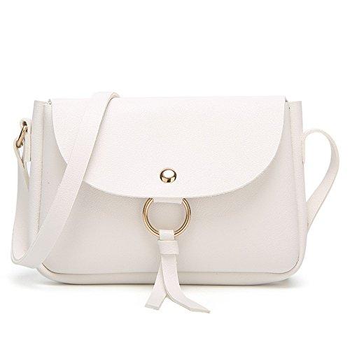 Coreana Nappa Casuale Ymym colore Bag Mini Bianca A Nuova Borsa Donna Tracolla Bianca Da Messenger 4qIwYq