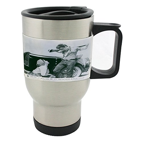 Elizabeth Taylor as Leslie Lynnton Benedict and James Dean as Jett Rink in a scene from the movie Giant, 1956. 14oz Stainless Steel mug