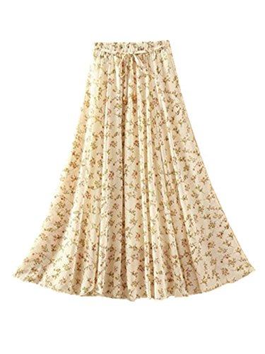 Jupe Jupe Jupe Jupe Ethnique Longue Haililais Fashion Plage Lache Casual Plisse De Mi Mousseline Pink2 Beau Femme Jupe Jupe Floral T En FwxOaq4