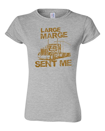 Junior Large Marge Sent Me Truck TV Funny Parody DT T-Shirt Tee (X Large, Sports Gray)