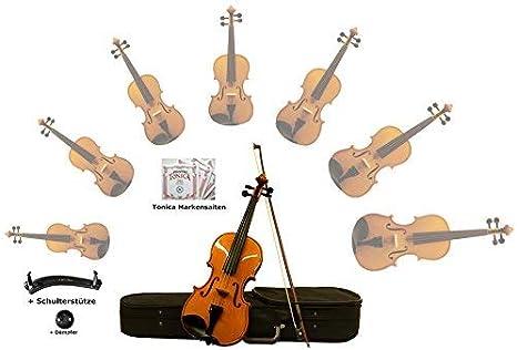 Kinnstütze Bogen Violinen//Geigenset 3//4 mit Koffer Feinstimmer,Kolofonium !