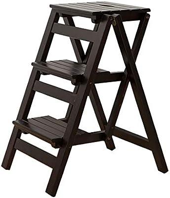 LLTD Taburete de Madera Escalera de Madera de 3 peldaños Soporte de Flores Escalera Plegable Multifunción de Interior para el hogar Asciende la pequeña Escalera (Color : D): Amazon.es: Hogar