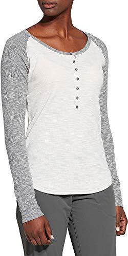 Alpine Design Women's Henley Long Sleeve Shirt (XS, Pastel Parchment Heather)