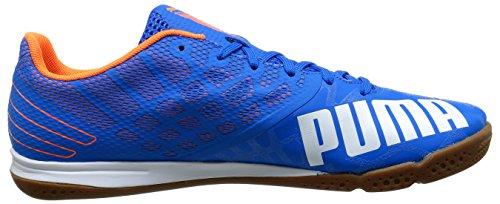 Puma Mens Evospeedsala 3.4 Indoor Soccer Shoe Blu Elettrico Limonata / Bianco / Arancione Pesce Pagliaccio