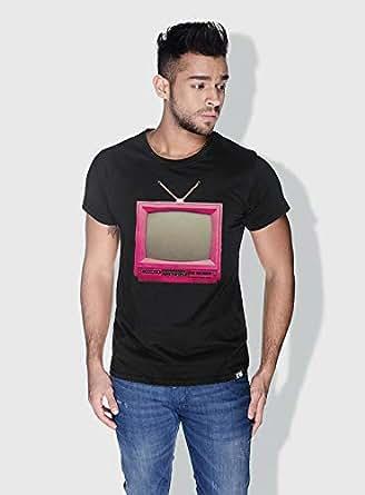 Creo Tv Retro T-Shirts For Men - L, Black