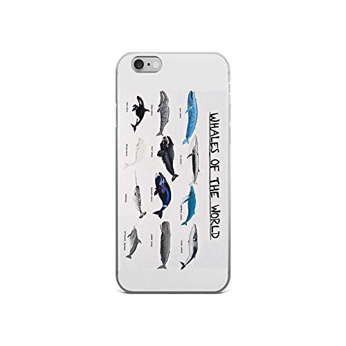 (iPhone 6/6s Pure Clear Case Cases Cover Whales of The World Chart)
