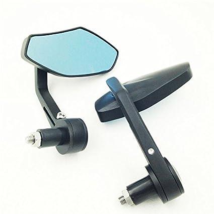 Polígono Forma Espejos con luz azul cristal espejos negro ...