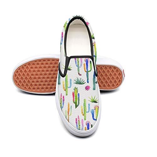 Sernfinjdr Women's Mini Mini Women's Cactus Travel Art Fashion Casual Canvas Slip on Shoes Stylish Running Sneakers B07H5K1RL6 Shoes f826ea