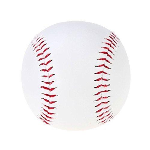 Baseball - SODIAL(R)Baseball Baelle 9' Handmade PVC Obermaterial Gummi Innen weich fuer Exercise,1 Stuecke Weiss