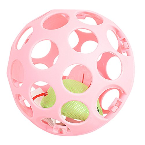 UHeng Pet Cat Scratch Toys Vocal Slotted Lattice Balls With Mouse (Slotted Cat Toy Balls)
