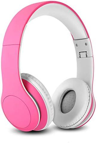 Nenos Bluetooth Kids Headphones Wireless Kids Headphones 93dB Limited Volume Wireless Headphones for Kids Pink