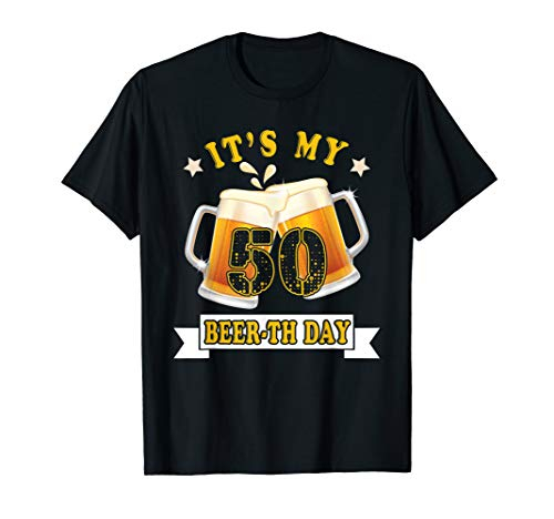 (50th Birthday tees Its my Beer-th Day Funny Beer T-Shirt)
