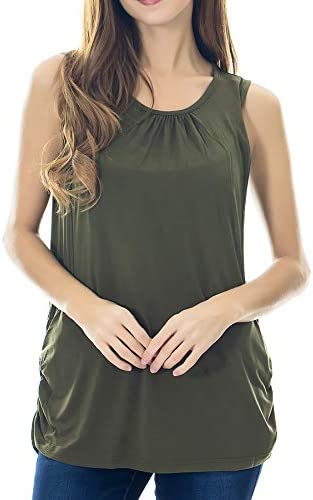 Smallshow Womens Maternity Nursing Tank Top Sleeveless Comfy Breastfeeding Clothes