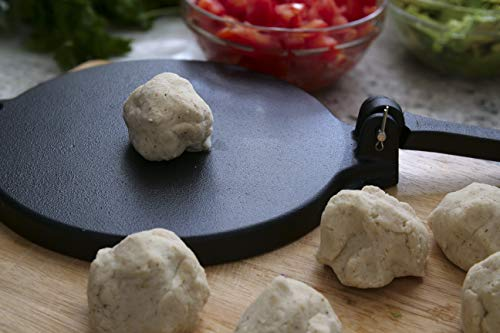 Cast Iron Tortilla Press and Pataconera, Pre Seasoned Heavy Gauge, 8 inch by Kitchen Gourmand by Kitchen Gourmand (Image #4)