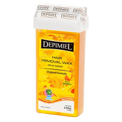 Depimiel Hair Removal Wax Roll On System Original Formula With Honey 3.52 Oz (2 Pack) - Formula Hair Removal System Wax