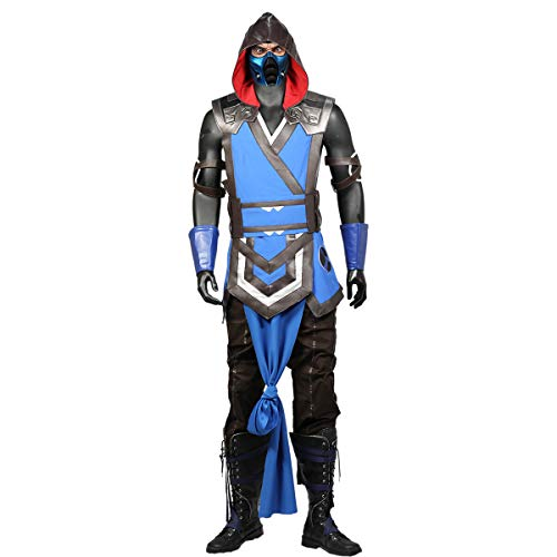 Mortal Kombat 11 Sub-Zero Costume Adults Cosplay Men Halloween Unifrom -