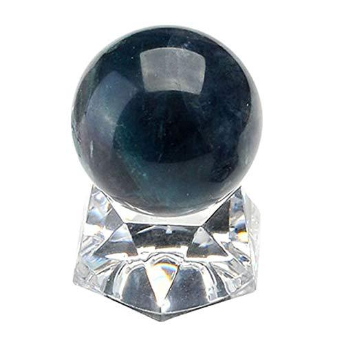 MANIFO Healing Crystal Polished Mineral Ball Sphere Feng Shui Chakra Aura Balance Stone with Acrylic Stand - 30mm Fluorite (Crystal Aura Chakra Healing Sphere)