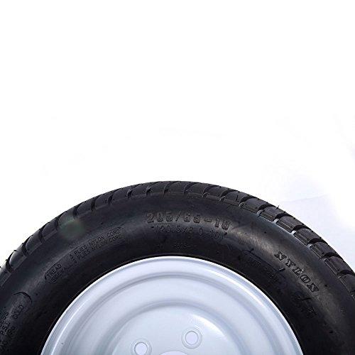 2 Pcs 20.5x8.0-10 LRC Bias Trailer Tires 6PR P825 5 lugs on 4.5'' Center Spare Rubber Tire Wheel Replacement by Motorhot (Image #3)