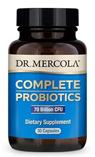 Dr. Mercola, Complete Probiotics (70 Billion CFU) 30 Servings (30 Capsules), Helps Support Digestive Health, Non GMO, Soy Free, Gluten Free